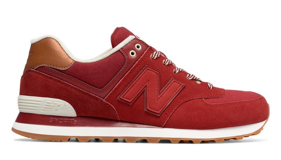 New Balance Hombre ML574NEC 574 Collegiate Crimson with Rojas and Powder