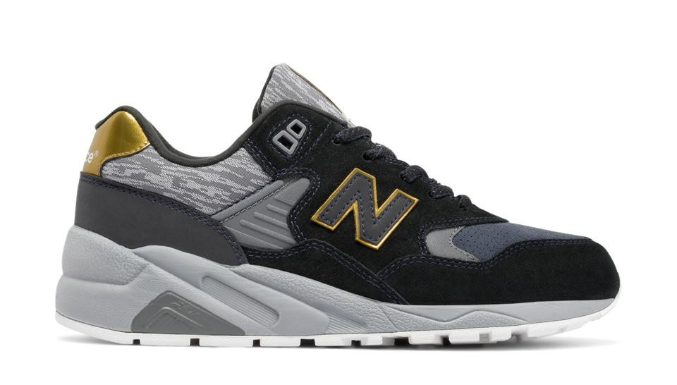 New Balance Mujer WRT580JA 580 Molten Metal Negras with Gold