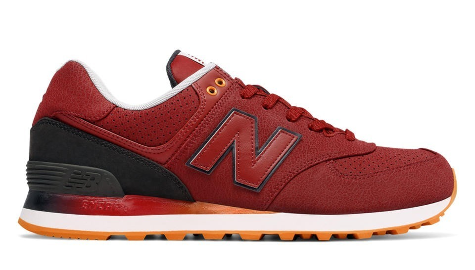 New Balance Hombre ML574RAB 574 Gradient Rojas with Negras and Naranjas