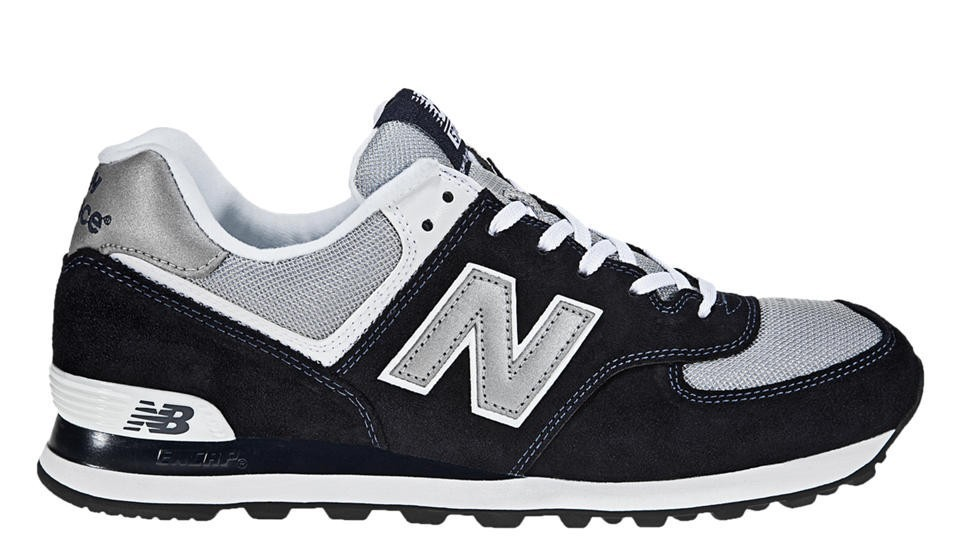 New Balance Hombre M574BGS 574 CORE NAVY WITH LIGHT Grises AND Blancas