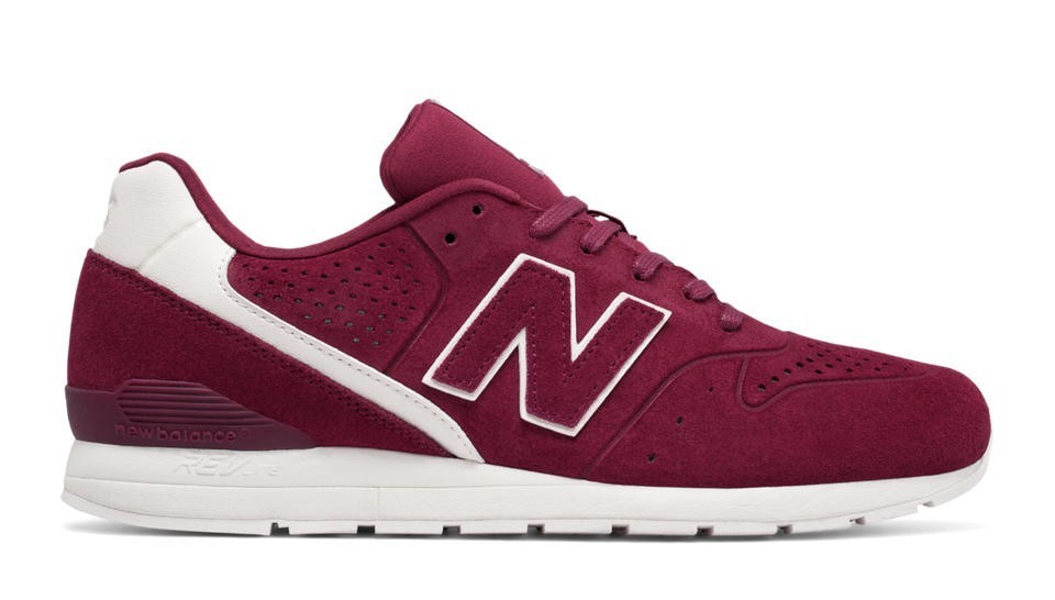 New Balance Hombre MRL696DU 696 Re-Engineered Burgundy with Blancas
