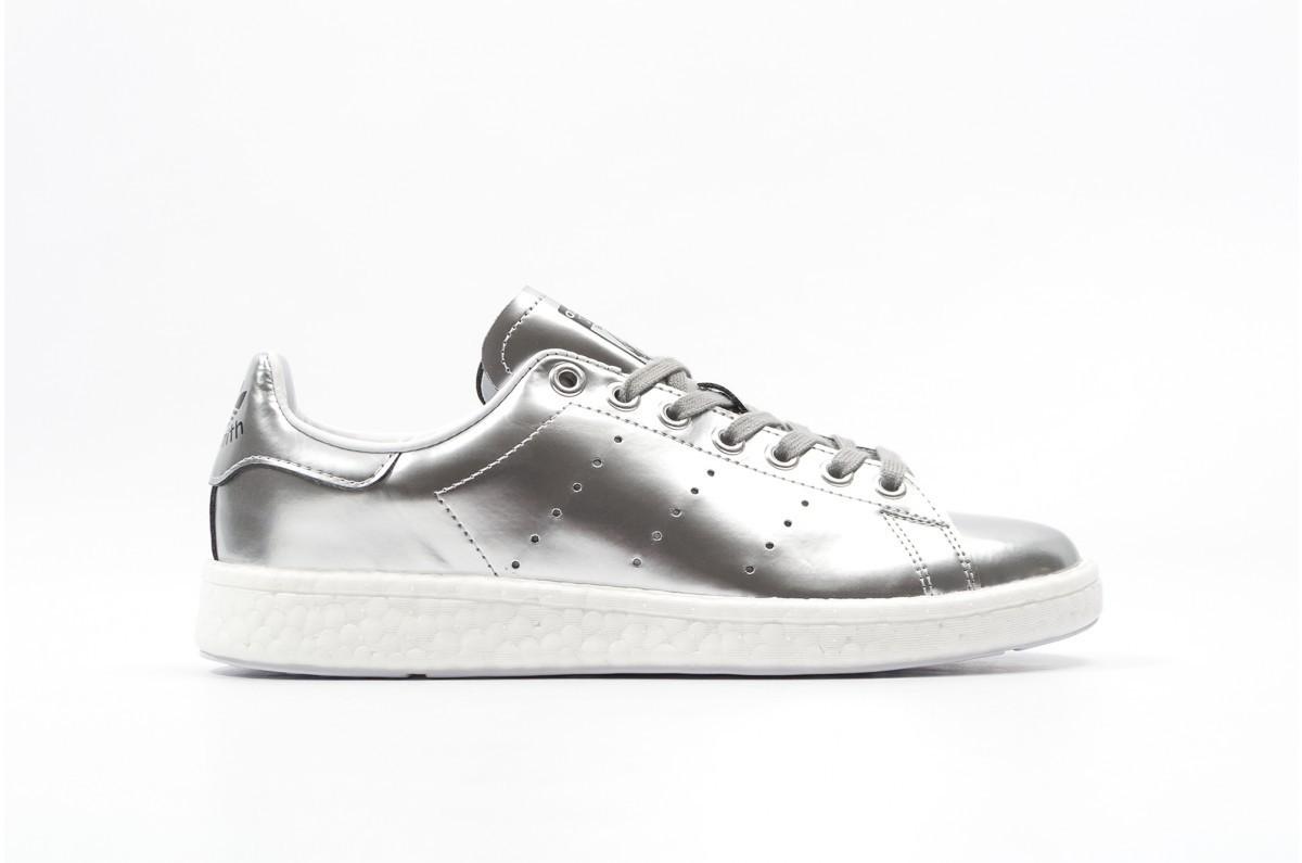 adidas stan smith plateado