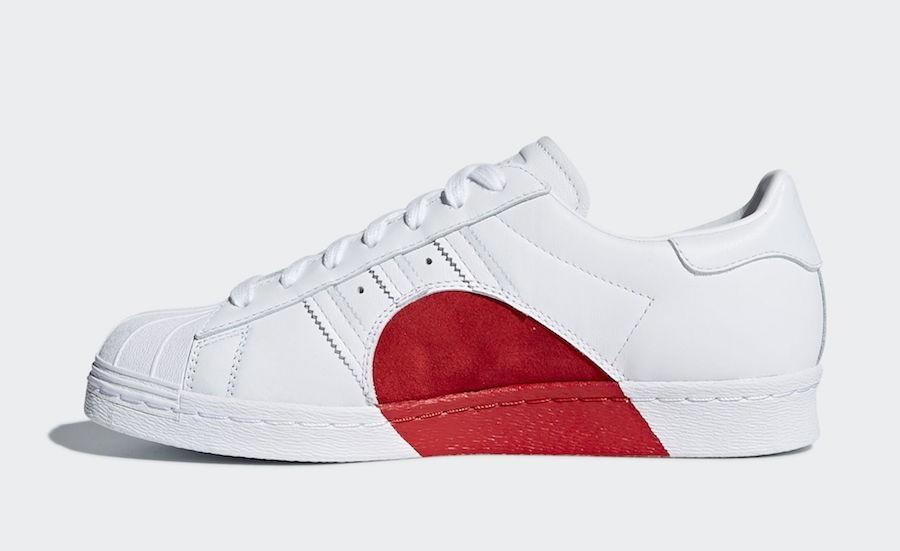 Adidas Originals Superstar 80s CQ3009 Mujer Half Heart Valentine's Day Blancas