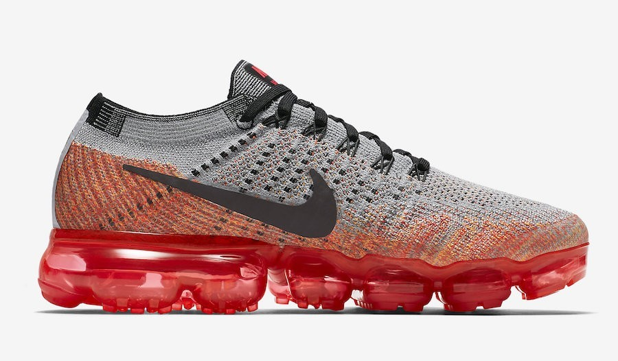 Nike Mujer Air VaporMax Wolf Grises Bright Crimson 849557-026