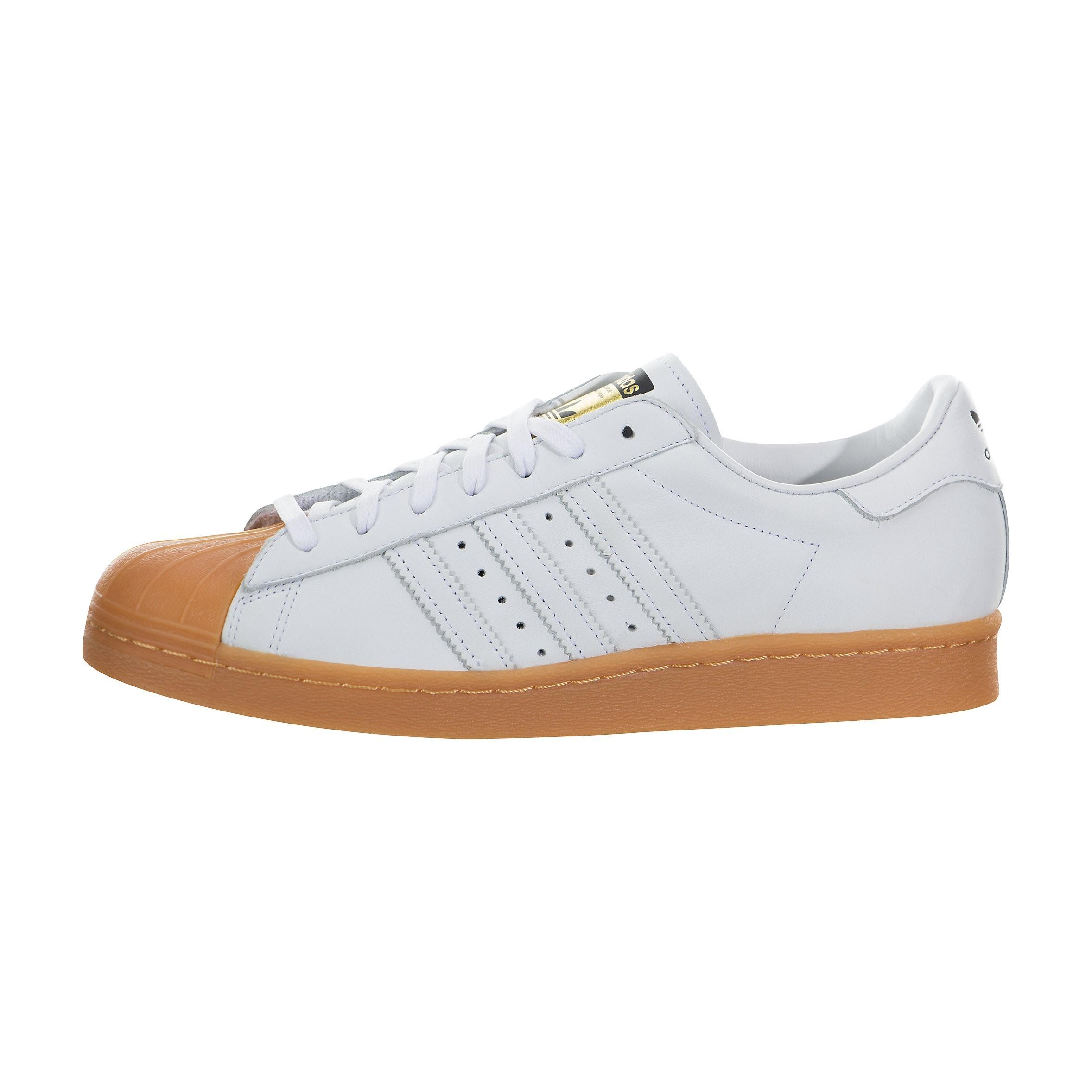 Hombre adidas Originals Superstar 80s DLX Blancas Gum S75830