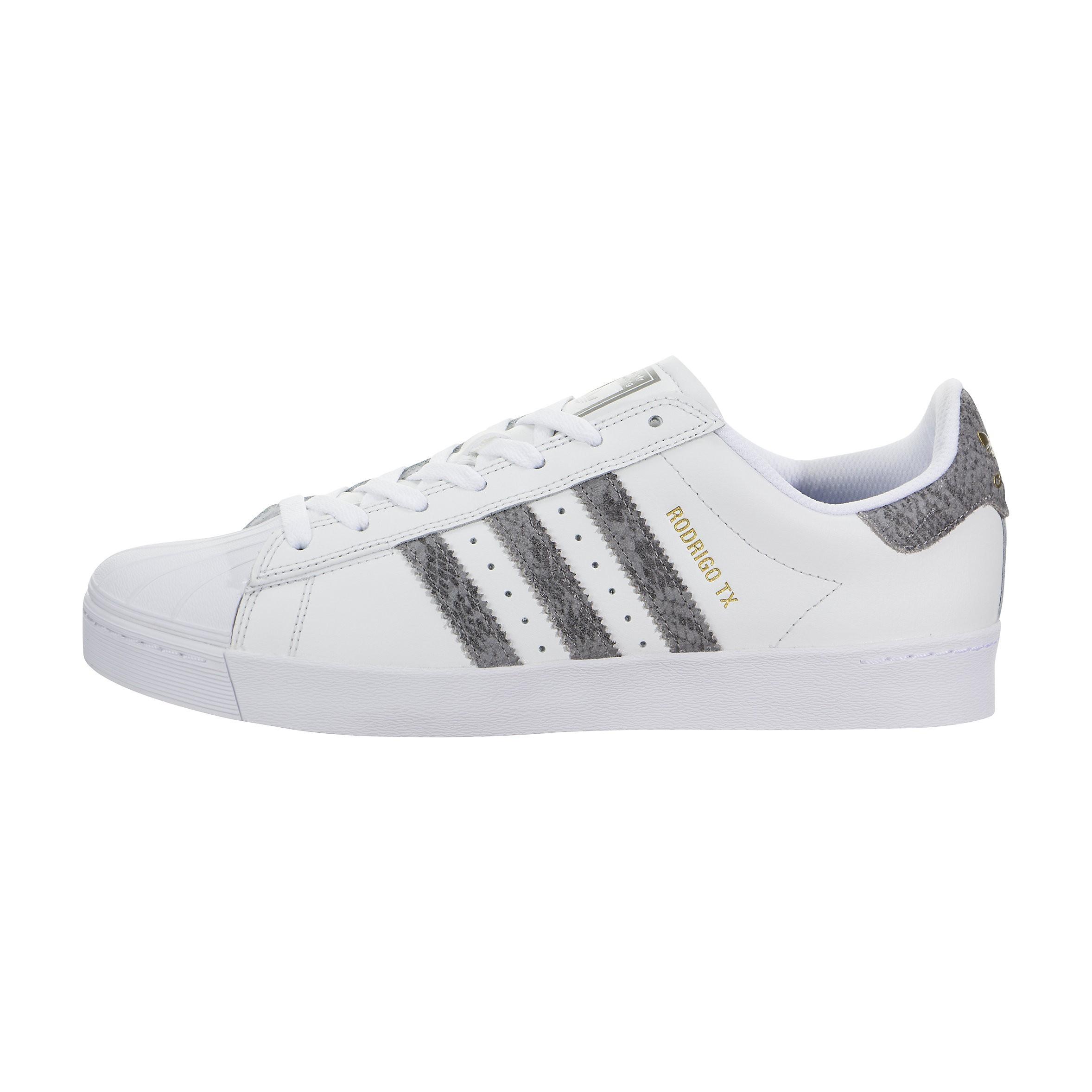 Hombre Adidas Superstar Vulc ADV Blancas Grises Gum Sole Rodrigo TX BB9067