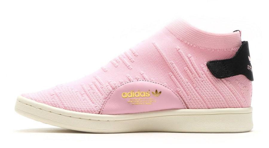 adidas Mujer Stan Smith Sock PK Tenis Zapatillas By9250 Rosas Negras