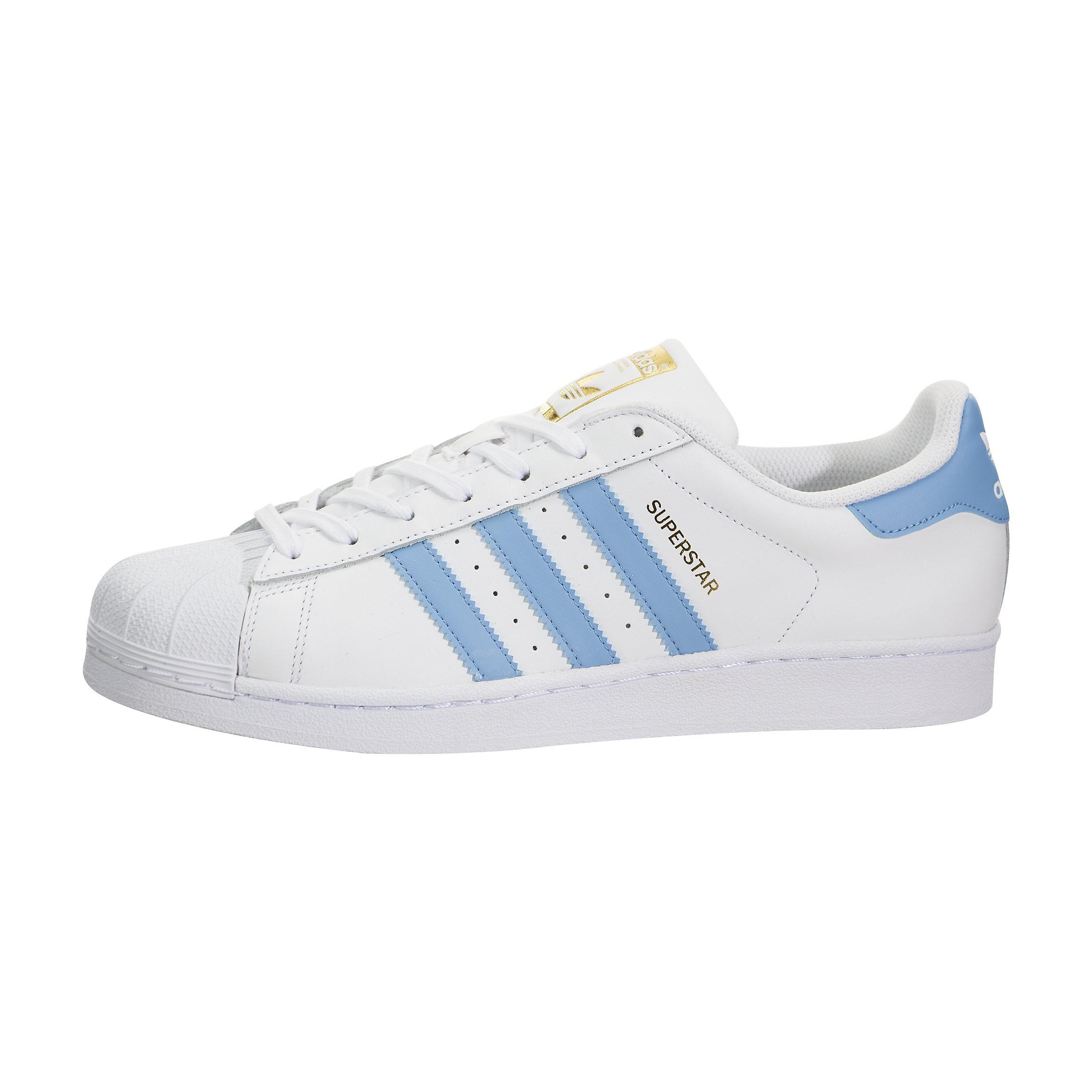 adidas Superstar Foundation Blancas Azules Hombre By3716