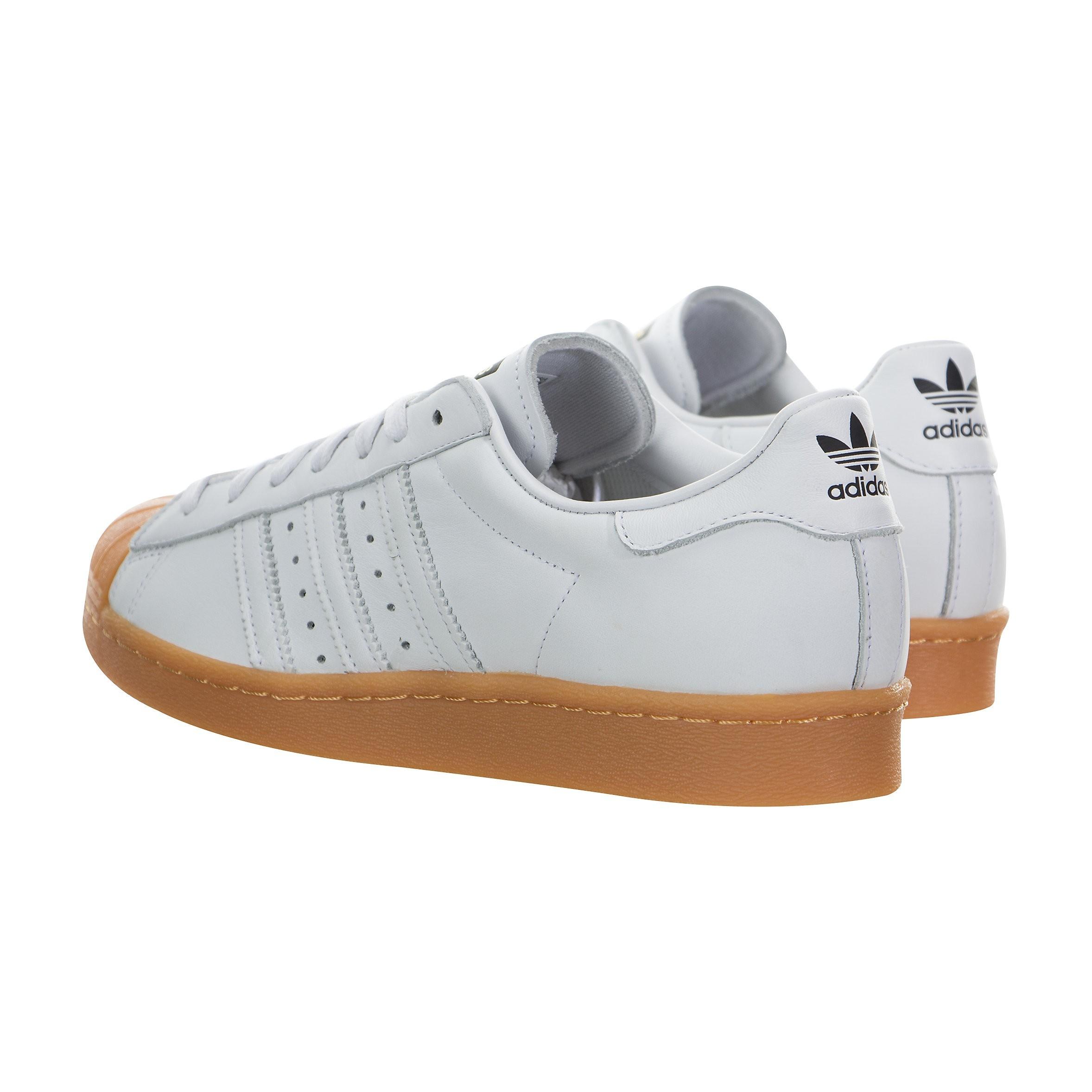 quality design 33a0e 10043 Hombre adidas Originals Superstar 80s DLX Blancas Gum S75830