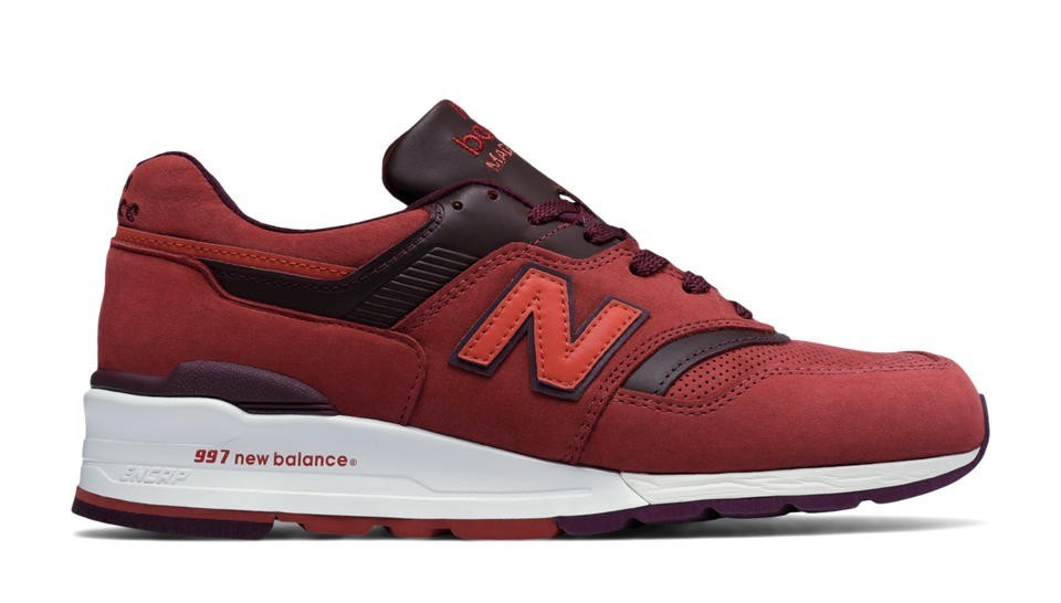 New Balance Hombre M997DTAG 997 Clay Rojas with Burgundy