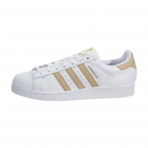 adidas Originals Superstar Hombre Basketball Zapatilla Blancas/Doradas cq0676