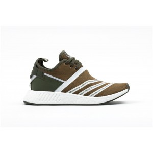 Adidas NMD R2 x white Mountaineering Hombre verdes CG3649