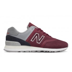 New Balance Hombre MTL574DB 574 Re-Engineered Rojas with Grises