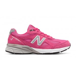 New Balance Hombre M990KM4 Pink Ribbon 990v4 Komen Pink with Plata
