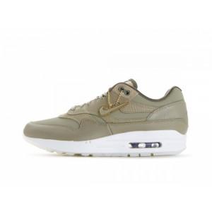 Mujer Nike Air Max 1 Premium Oliva Doradas 454746-205