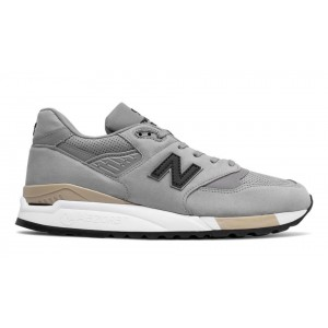 New Balance Hombre M998DTK 998 Nubuck Light Grises with Negras