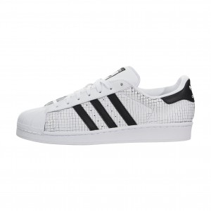 adidas Originals Superstar Gridded Leather Blancas Negras Hombre aq8333