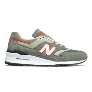 New Balance Hombre M997CHT 997 Age of Exploration Grises with Naranjas