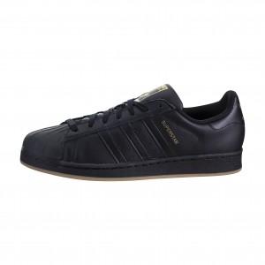 Adidas Hombre Superstar Negras/Doradas Metálico BY4358