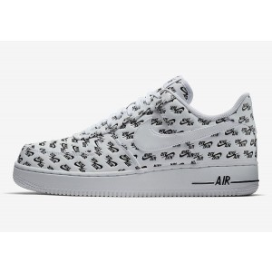 Nike Hombre Air Force 1 07 QS Logo Pack Blancas Negras AH8462-100