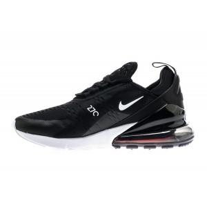 Nike Air Max 270 Hombre Corriendo Zapatilla Negras/Blancas AH8050-002