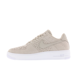 Nike Air Force 1 Flyknit Low Hombre Blancas 817419-200