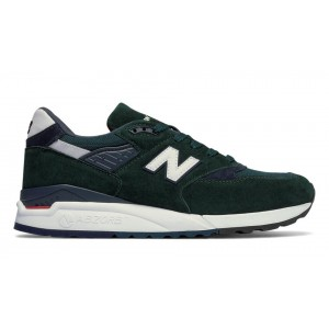 New Balance Hombre M998CHI 998 Age of Exploration Dark Verdes with Navy
