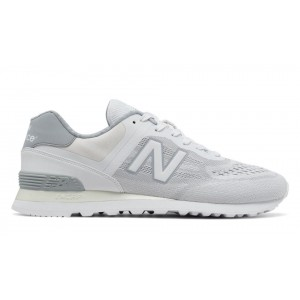 New Balance Hombre MTL574NA 574 Re-Engineered Blancas with Plata Mink