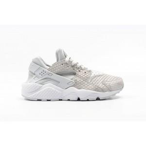 Nike Air Huarache Run Premium Hombre Blancas 683818-014