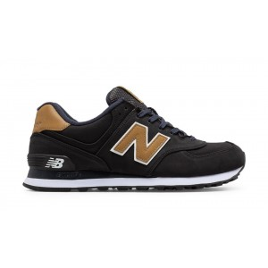 New Balance Hombre ML574SLA 574 Lux Negras with Tan