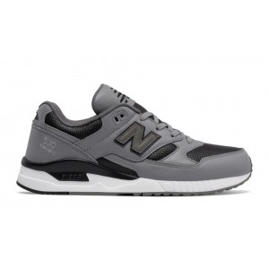 New Balance Hombre M530VTA 530 Lux Leather Steel with Negras