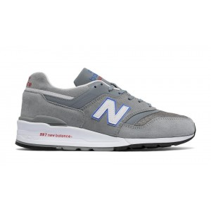 New Balance Hombre M997CNR 997 Suede Grises with Azules Bell