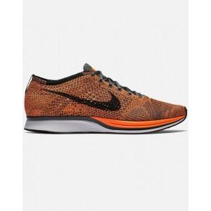 Nike Flyknit Racer Hombre Orange 526628-810