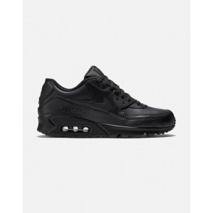 Nike AIR MAX 90 Leather Hombre Negras 302519-001