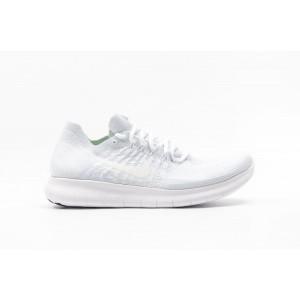 Nike Free Run Flyknit Hombre Blancas 880843-100