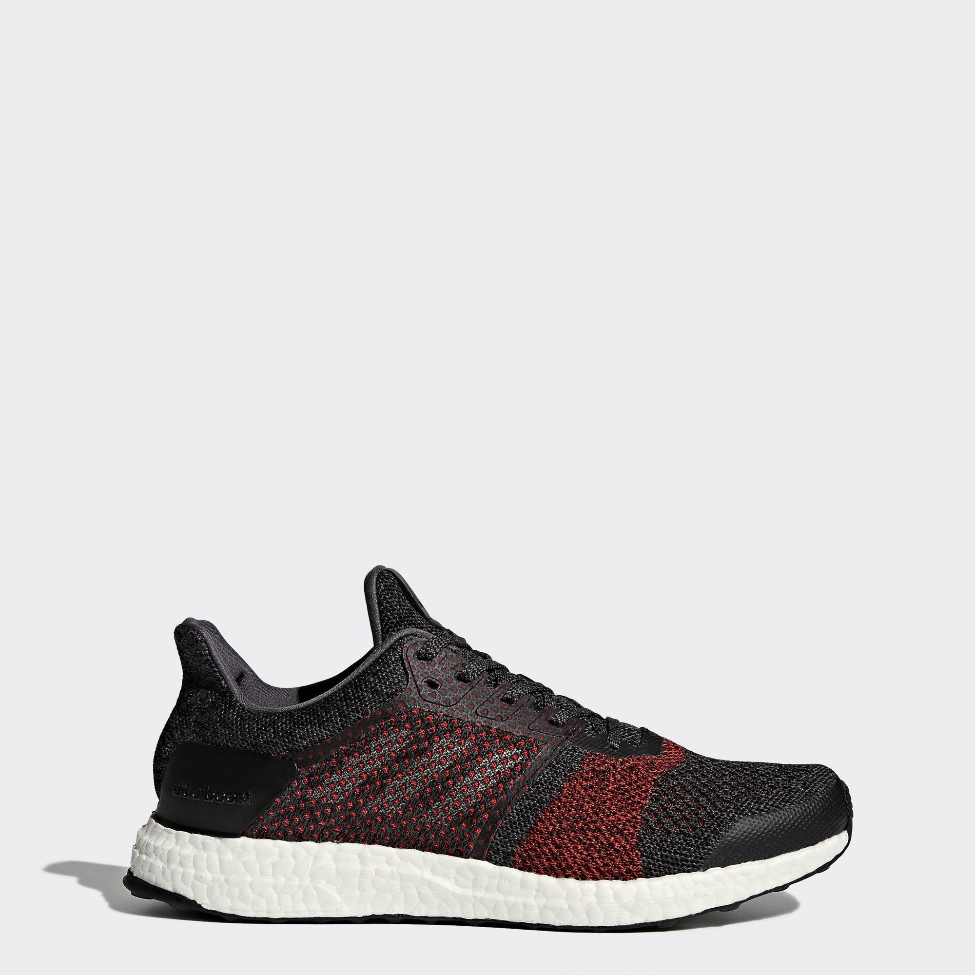 Adidas Ultra Boost ST Hombre Corriendo Zapatilla Negras/Rojas S80616