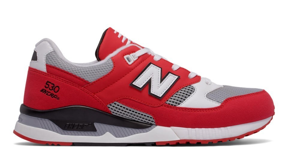 New Balance Hombre M530CVA 530 Leather Textile Rojas with Grises and Blancas