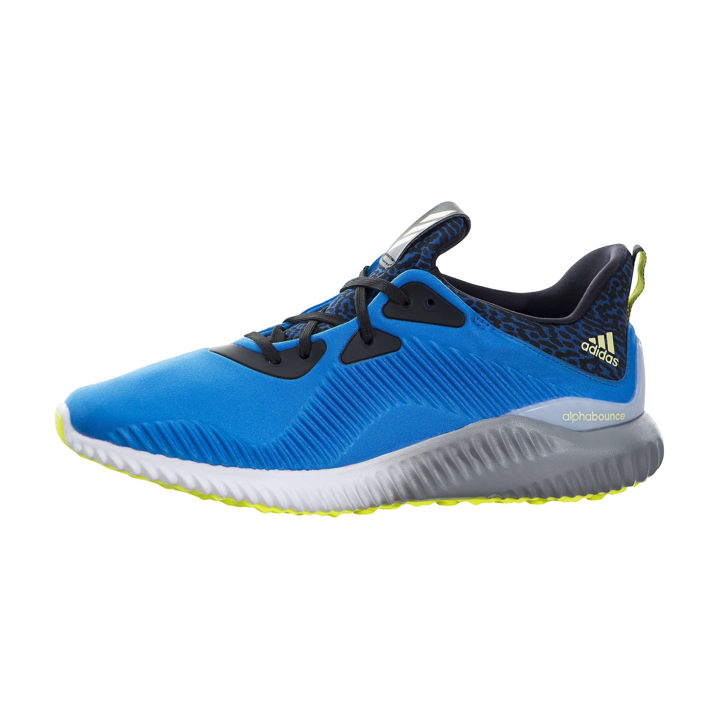 adidas Alphabounce Hombre Corriendo Zapatilla Azules Amarillas Grises b54187