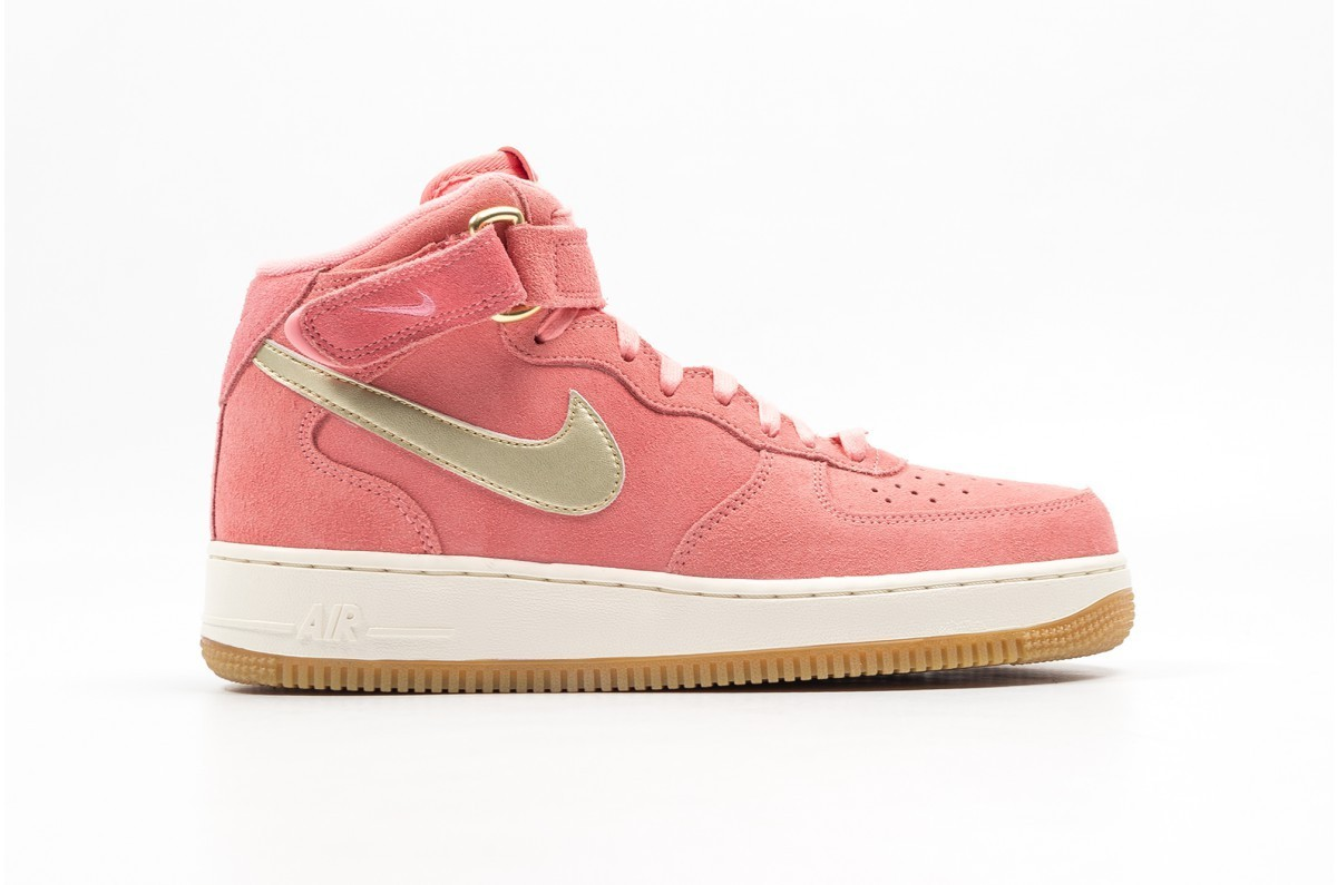 Nike Mujer Air Force 1 Mid Oro 818596-800