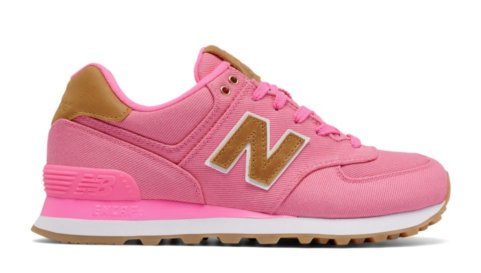 New Balance Mujer WL574CDA 574 15 Ounce Canvas Solar Pink with Beeswax