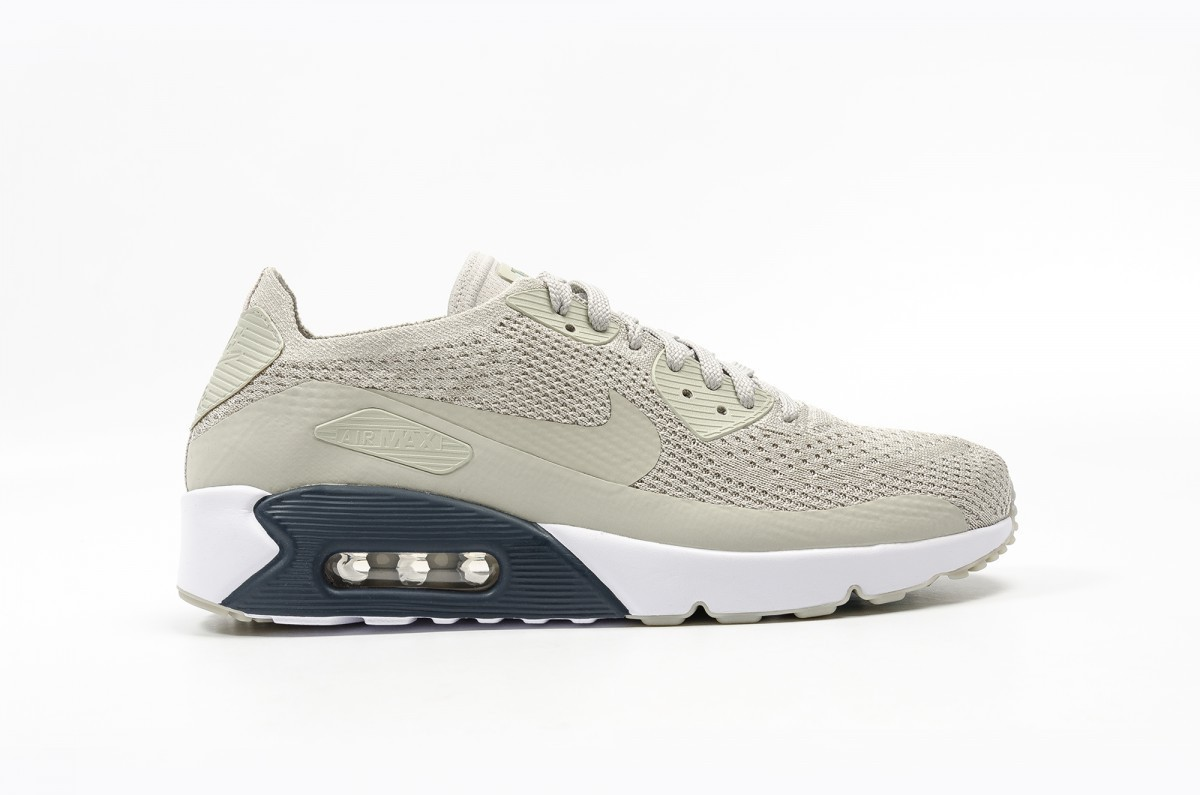Nike AIR MAX 90 ULTRA 2.0 FLYKNIT Hombre Grises 875943-006