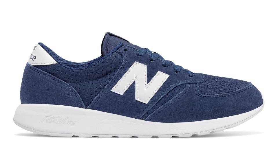 New Balance Hombre MRL420SB 420 Re-Engineered Suede Azules with Blancas