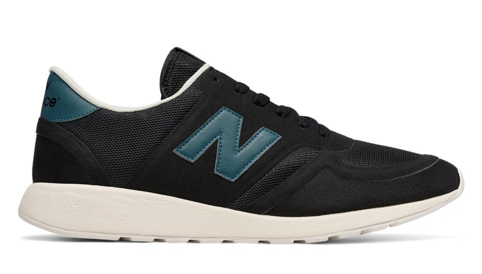 New Balance Hombre MRL420BB 420 Re-Engineered Suede Negras with Azules