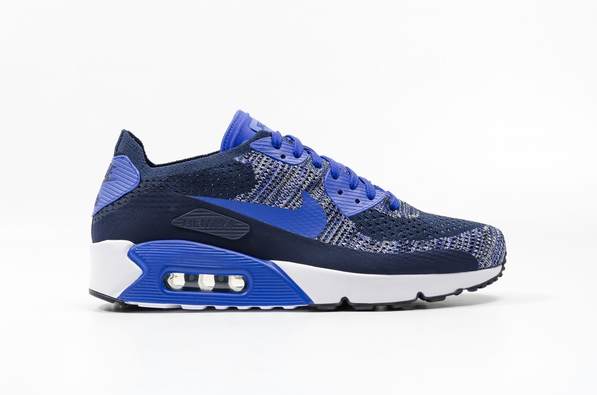 Nike AIR MAX 90 ULTRA 2.0 FLYKNIT Hombre Azules 875943-400