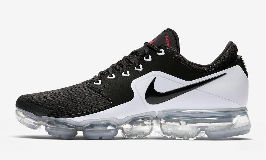 Nike Air Vapormax CS Negras Blancas Rojas Ah9046-003 Hombre Corriendo Zapatilla