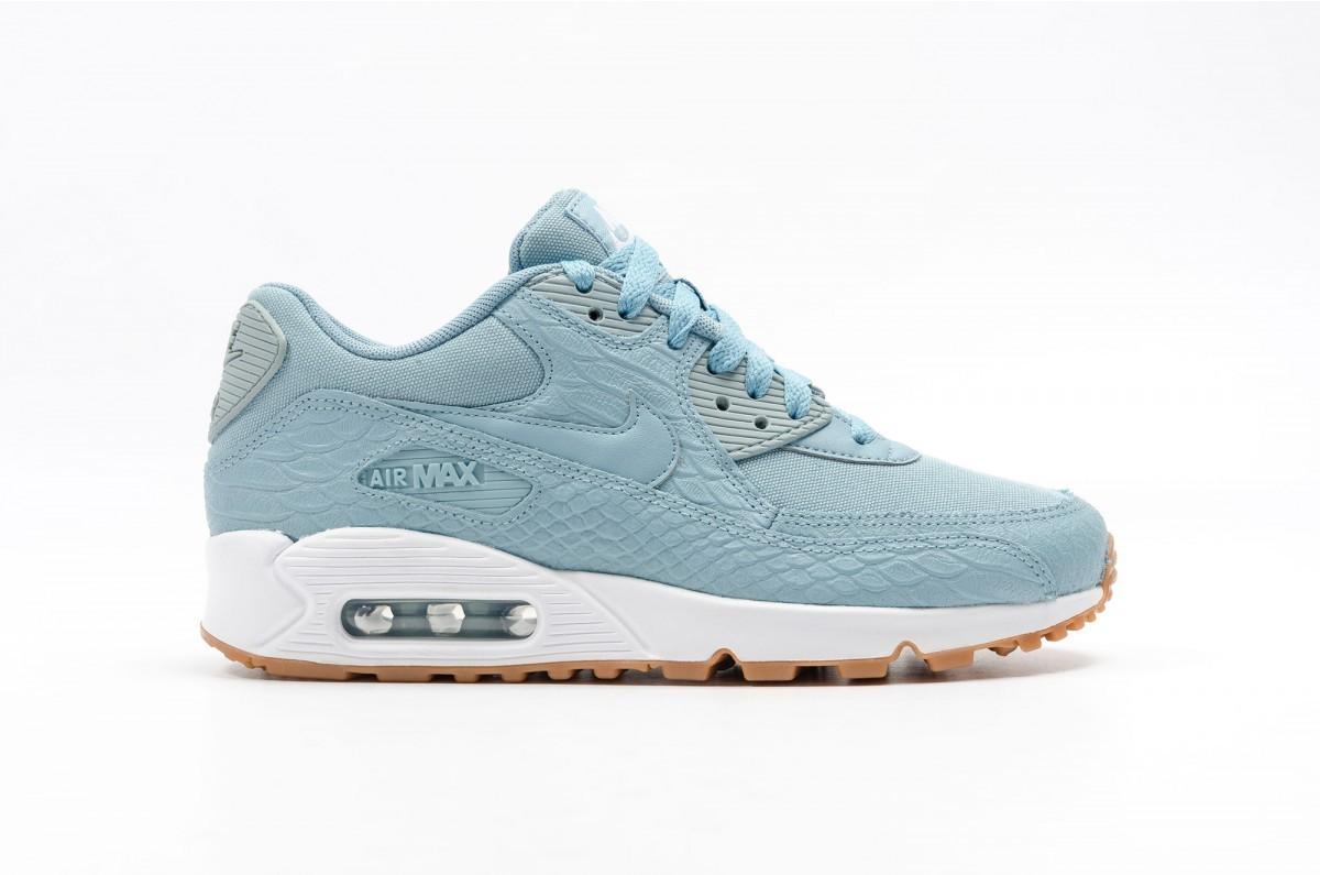 Nike Mujer AIR MAX 90 PREMIUM Azules 896497-400