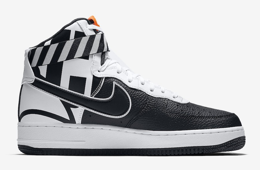 Nike Air Force 1 High Force Logo Blancas Negras 806403-013