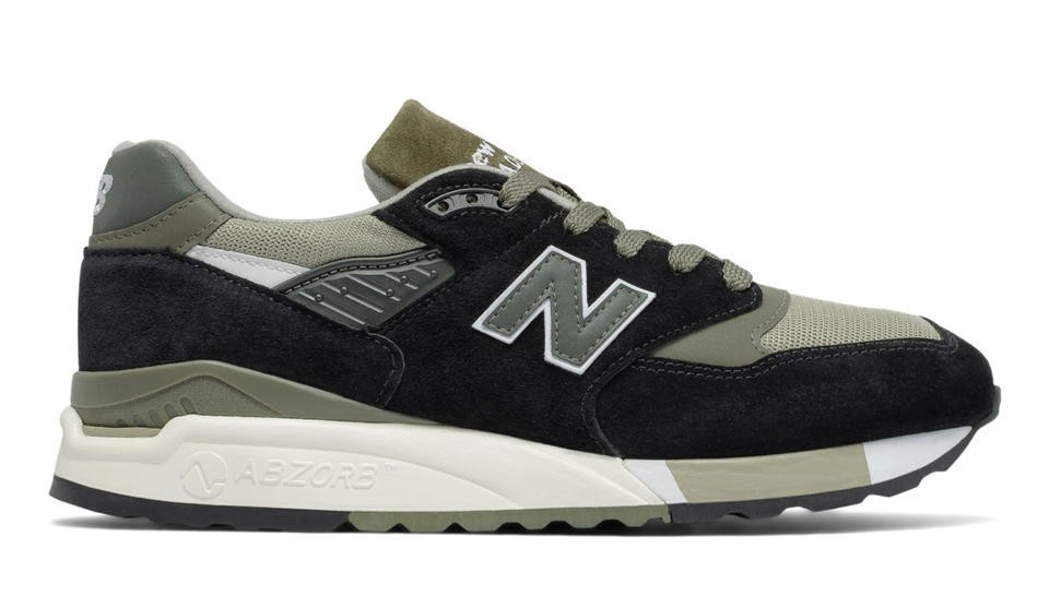 New Balance Hombre M998CTR 998 Suede Negras with Sage